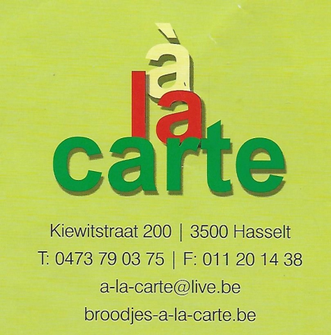Broodjeszaak à la carte Hasselt