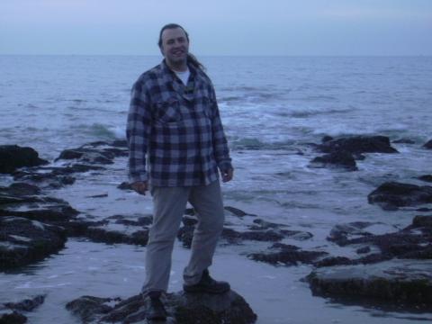 Rudy Gybels aan zee