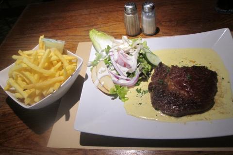 Friet, steak