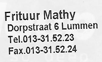 Frituur Mathy Lummen