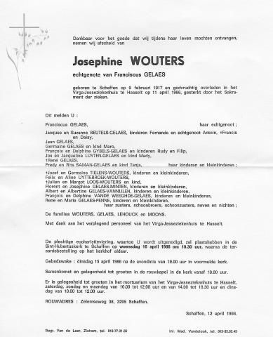 Josephine Wouters doodsbrief