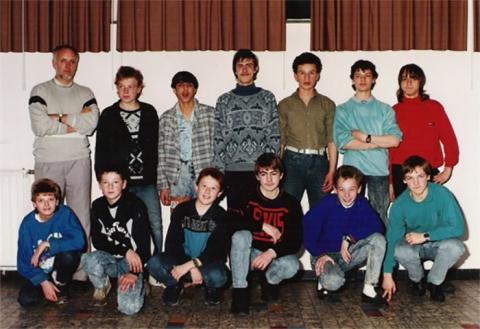 Klasfoto, schooljaar 1987-1988