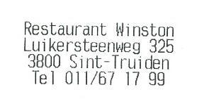 Restaurant Winston Sint-Truiden
