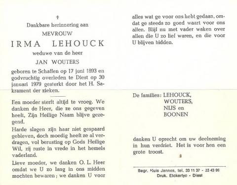 Irma Lehouck
