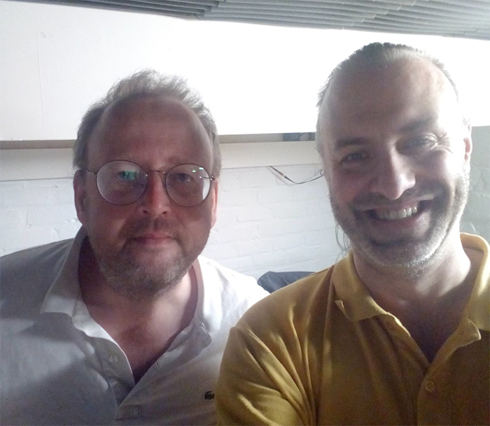 Steve Meert en Rudy Gybels