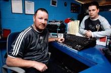 Foto: mei 2004, Huub Geraerts (links) en Wim Brepoels (rechts)