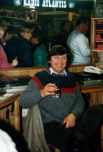 Joe Harris, in 1983 te gast bij Radio Atlantis Lovenjoel