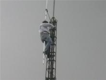 Werkzaamheden aan de antennes, zomer 2004