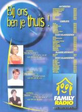 Flyer met vermelding van de frequencies