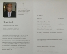 Henk Stark doodsbrief