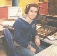 Erwin Vranckx in de studio, december 2005