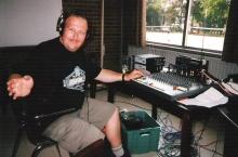 Dirk De Ridder, live-uitzending vanuit de sporthal in Zelem. (juli 1998)
