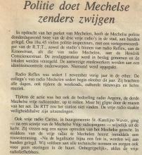 Artikel: Politie doet Mechelse zenders zwijgen