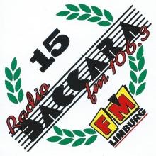 Sticker uit 1996 naar aanleiding van 15 jaar radio Baccara