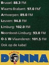 Radio Donna frequenties, oktober 1997