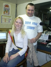 zondag 21 maart 2004: Laureen Reniers, kandidate Miss Belgium Teenager 2004, op de praatstoel in het programma van Rudy Gybels.