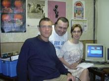 Nicolaes en Tineke van Animo Diest op interview (zondag 18 april 2004) bij Rudy Gybels