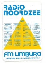 Radio Noordzee Hasselt, kalender 1986
