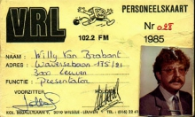 Radio VRL Leuven, lidkaart 1985