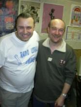Rudy Gybels (links) en Ludo de Brouwer (rechts) zondag 4 juli 2004