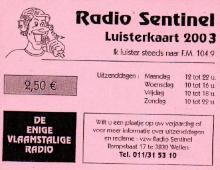 Radio Sentinel, steunkaart 2003