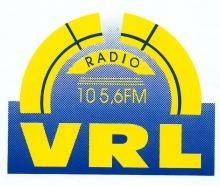 Radio VRL Leuven FM 105.6, sticker daterende uit 1994