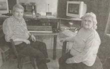 Bron: Het Laatste Nieuws, dinsdag 20 juli 2004 André Van Put en Maria Schoovaerts in de studio aan de Putsebaan (Keerbergen).