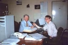 Frits Van Perk in gesprek met Armand Pien, 1992
