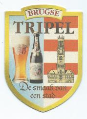 Brugse Tripel bierkaartje bierviltjeT