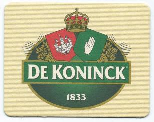 Bierkaartje De Konick bierviltje