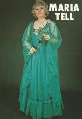 Maria Tell gehandtekende fotokaart