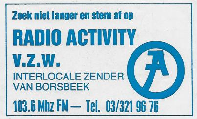 Radio Activity Borsbeek FM 103.6