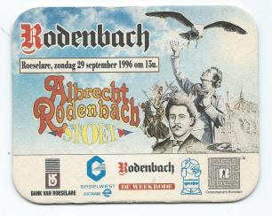 Bierkaartje Albert Rodenbach stoet Roeselare 1996