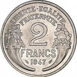 2 francs Frankrijk 1947